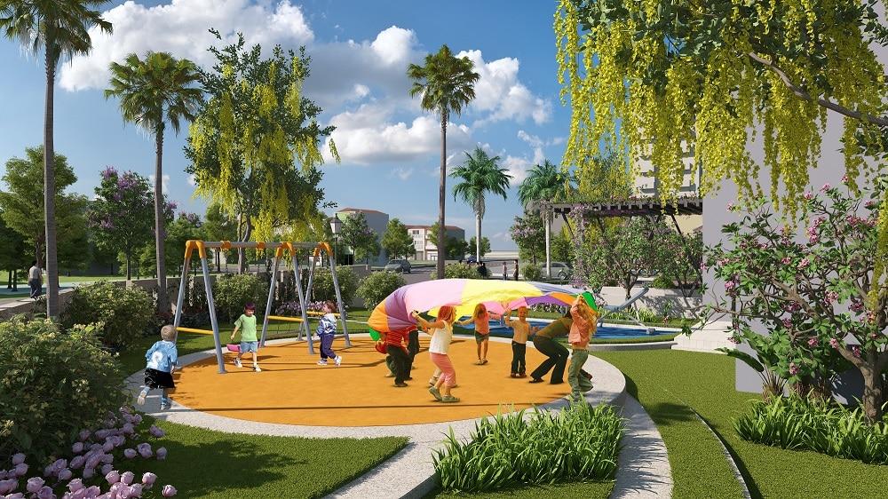 chung cư amber riverside sân vườn