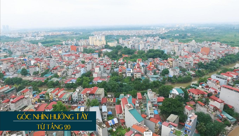 Tầm nhìn tầng 20 thực tế Dự án Goldmark City - TNR Sky Park