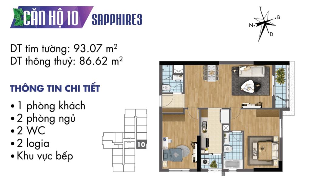 căn 10 tòa S3 Chung cư TNR Goldmark City