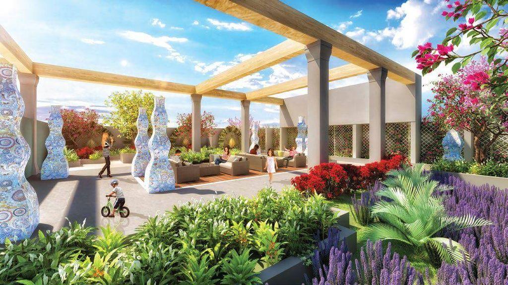 vườn cảm xúc dự án Chung cư TNR Goldmark City