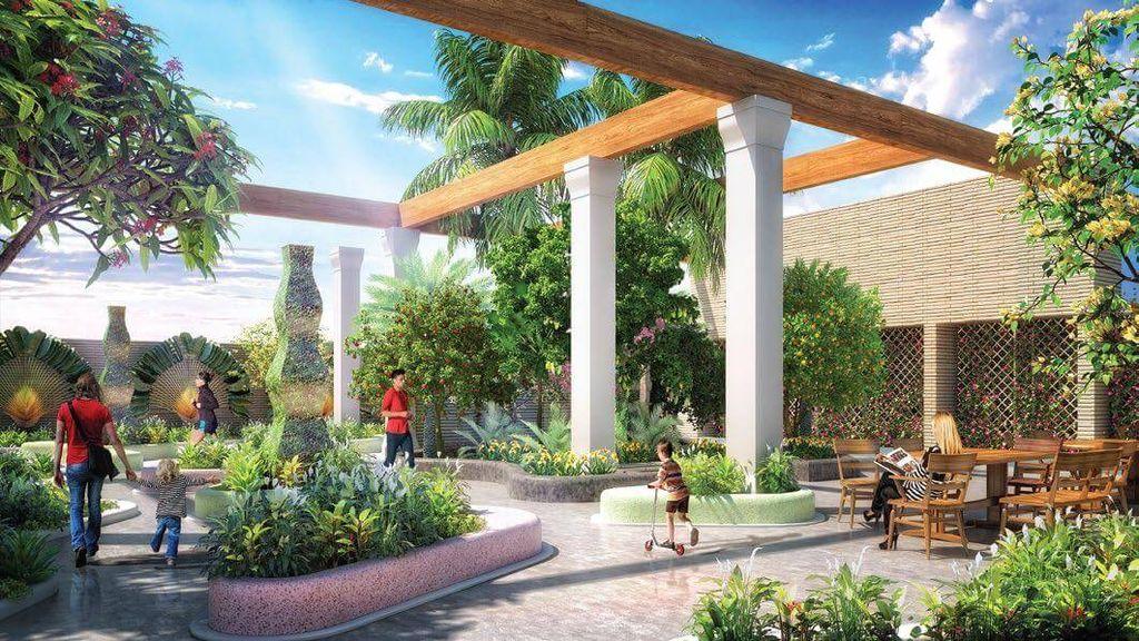 vườn nhiệt đới dự án Chung cư TNR Goldmark City