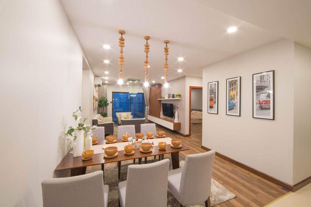 nội thất phòng khách phòng ăn dự án Chung cư TNR Goldmark City