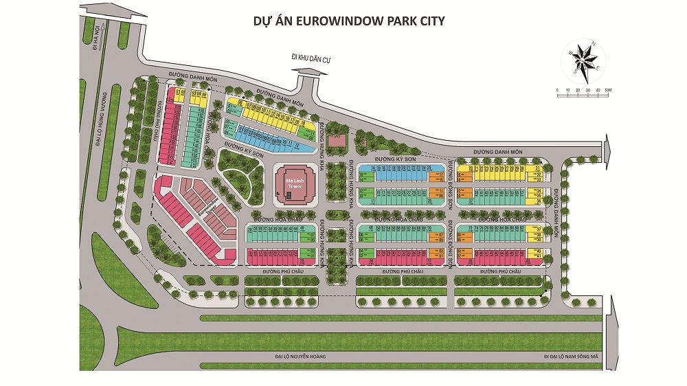 eurowindow park city mặt bằng chia lô