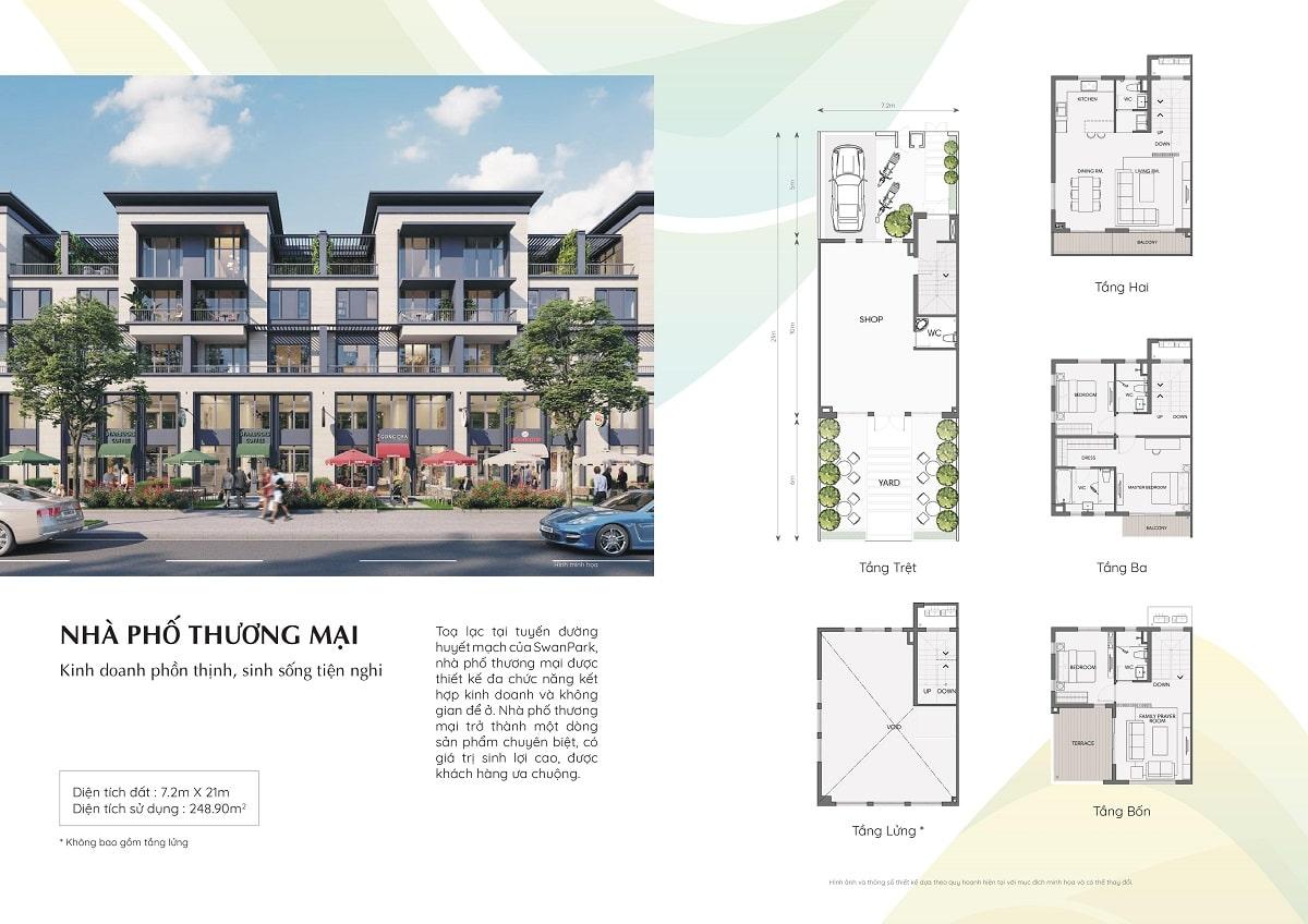 dự án swanpark nhà phố thương mại