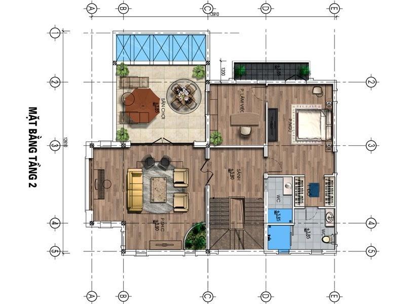 dự án fairy town biệt thự tầng 2