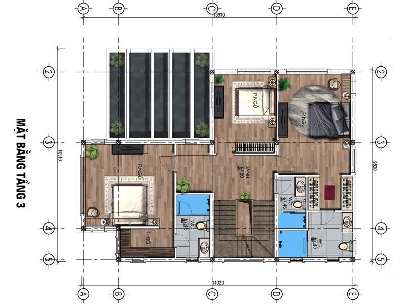 dự án fairy town biệt thự tầng 3