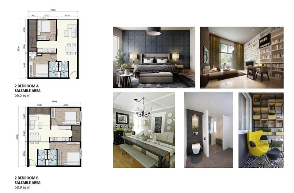 chung cư areca garden căn 2 phòng ngủ nhỏ