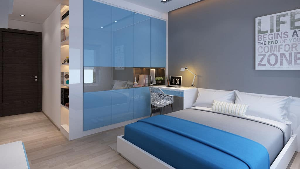 phòng ngủ Chung cư Hateco La Roman