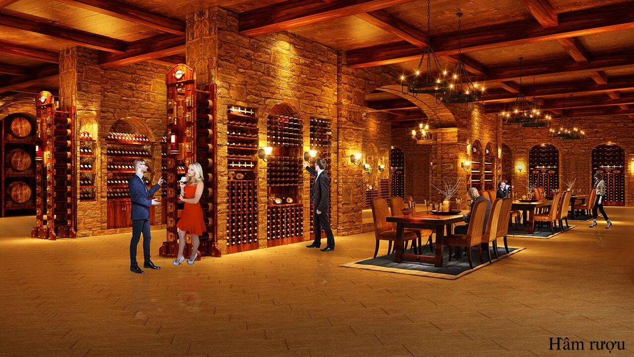 hầm rượu Chung cư Hateco La Roman