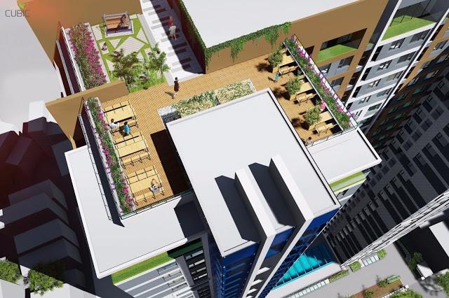 sân vườn sky garden trên tầng mái 31