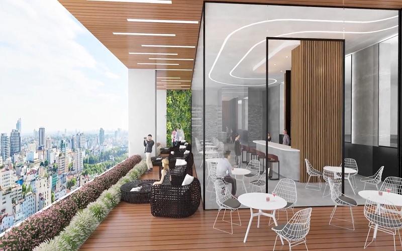 tiện ích tầng mái cà phê sky view