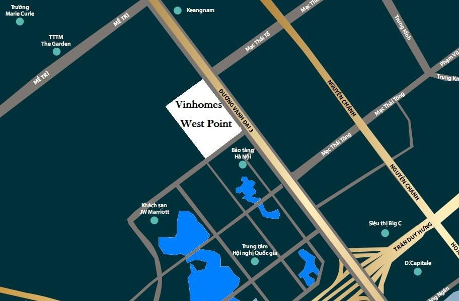 chung cư vinhomes west point vị trí