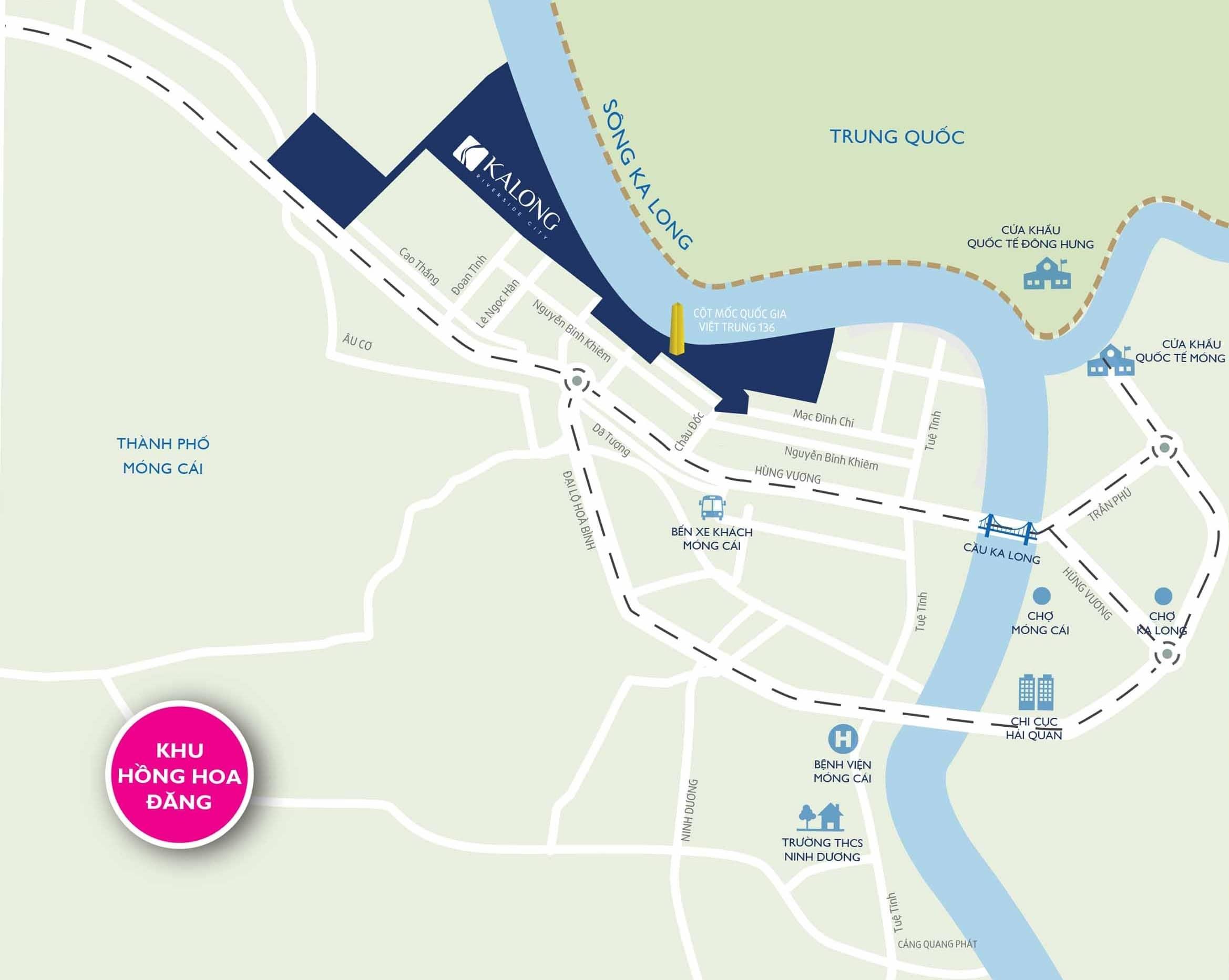 kalong riverside vị trí dự án