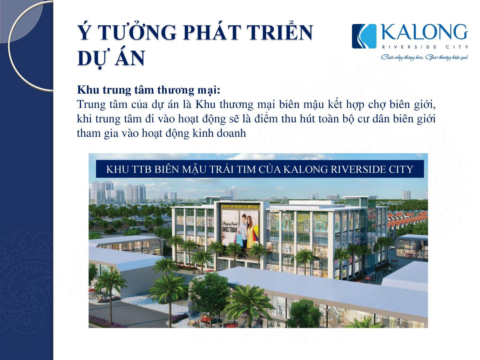 kalong riverside phát triển dự án