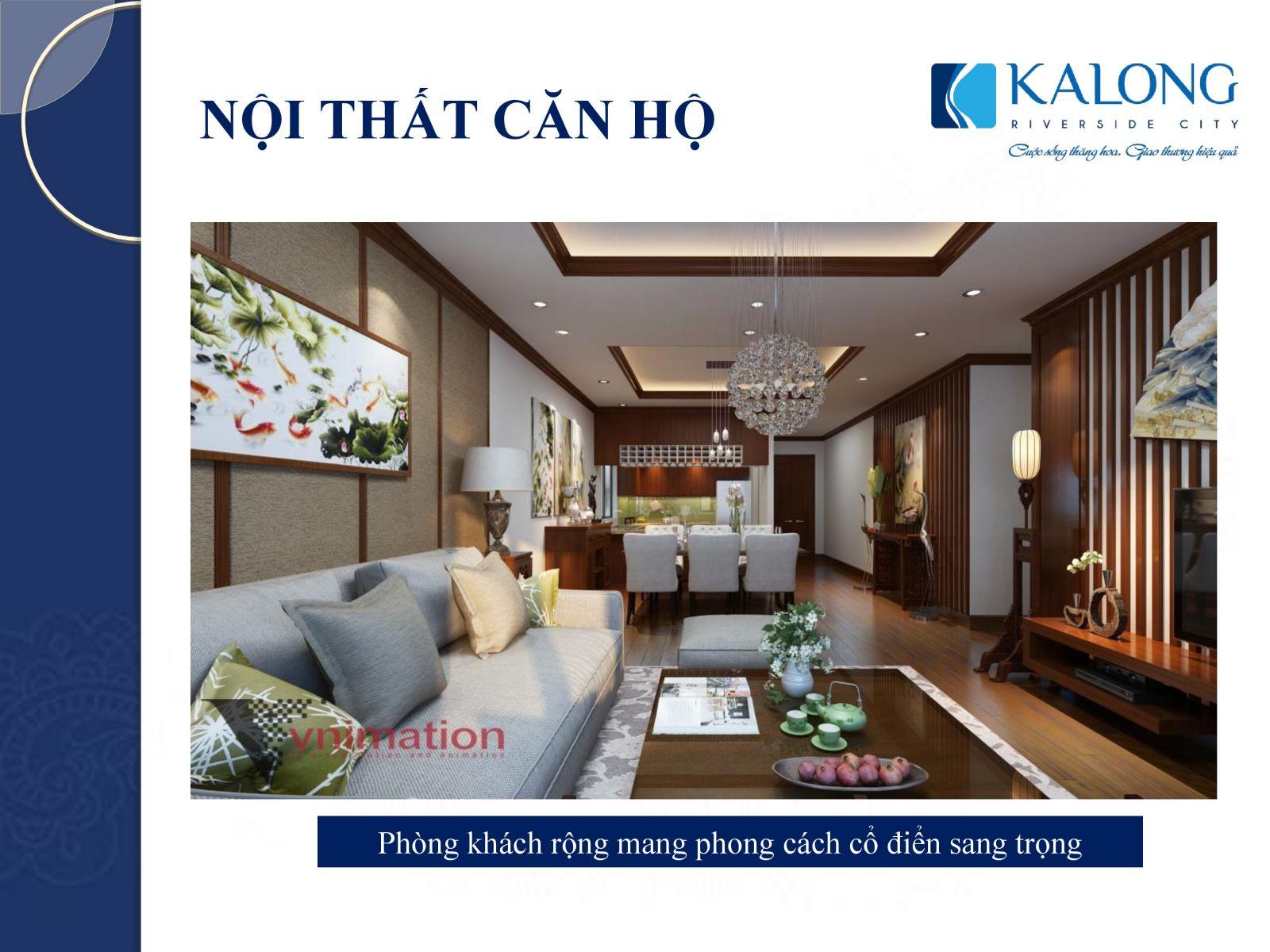kalong riverside phòng sinh hoạt chung