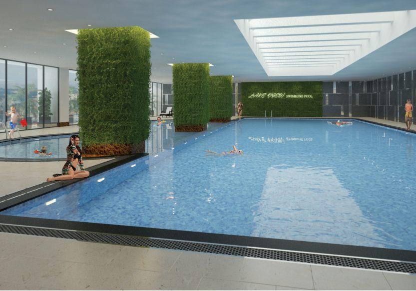 Bể bơi 4 mùa tại Tòa HH EPIC HOME 43 Phạm Văn Đồng Bộ Công An