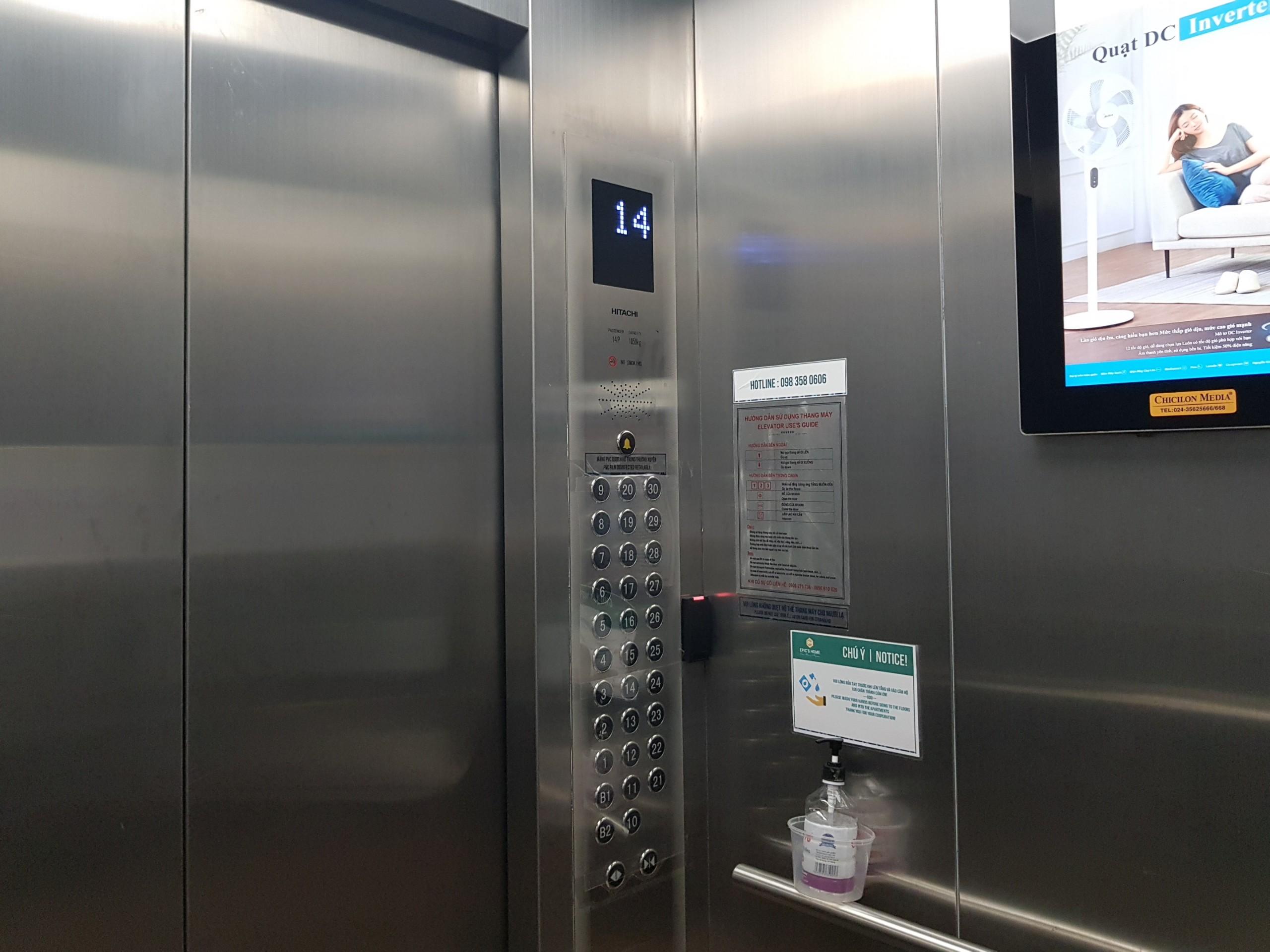 Thang máy chất lượng quốc tế Hitachi tốc độ cao