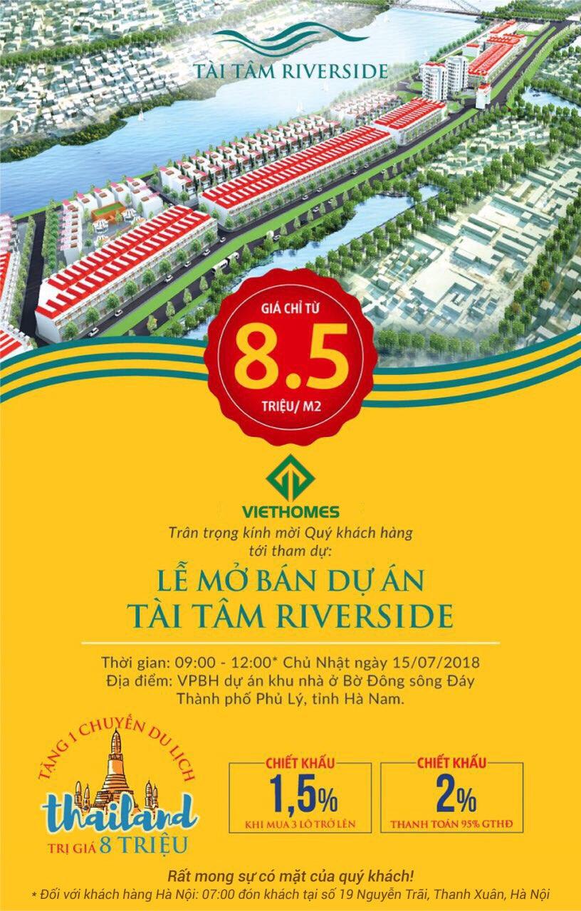 tài tâm riverside ra mắt dự án