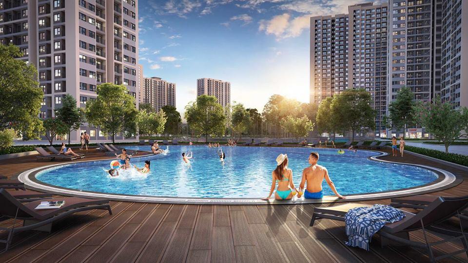 bể bơi ngoài trời tại Dự án Vincity Ocean Park Gia Lâm