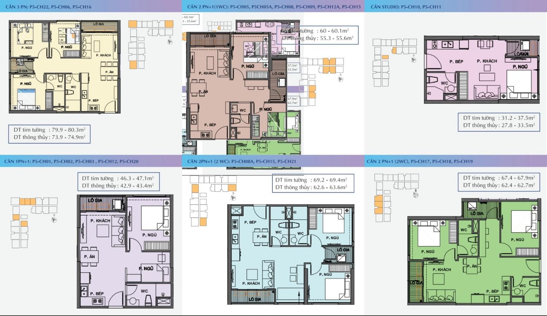 cơ cấu căn hộ Dự án Chung cư Vincity Ocean Park Gia Lâm