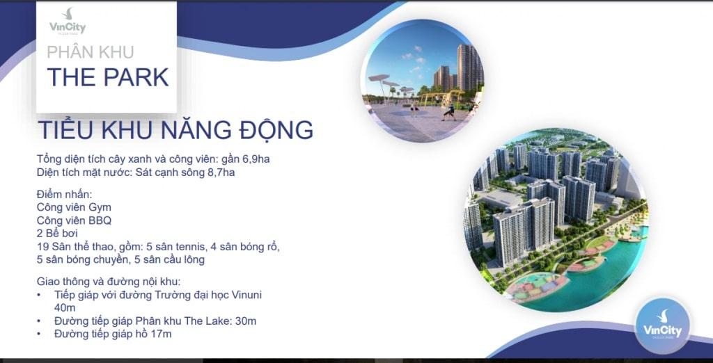 the park Dự án Vincity Ocean Park Gia Lâm