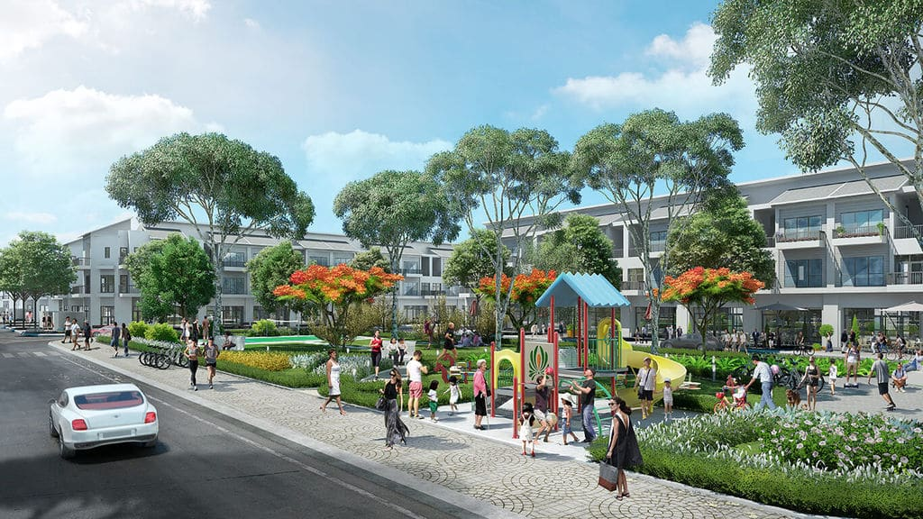 công viên trung tâm Dự án Liền kề Biệt thự T&T Phố Nối