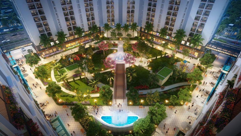 quảng trường trung tâm dự án Chung cư Hope Residences