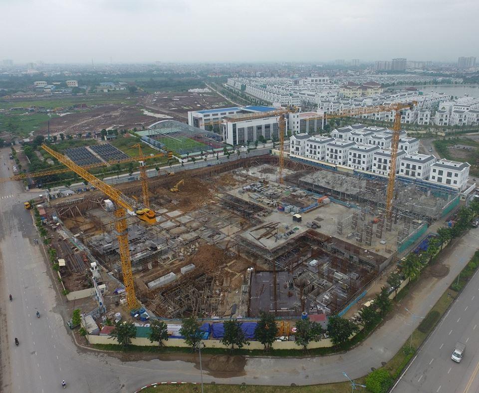công trường dự án Chung cư Hope Residences