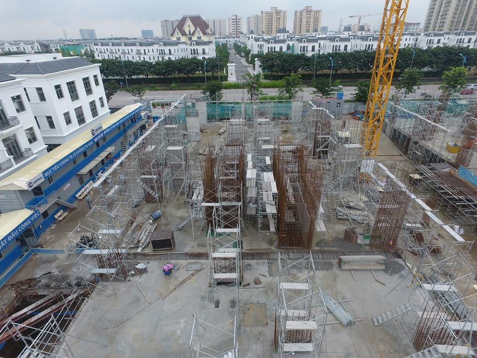 tiến độ thi công dự án Chung cư Hope Residences