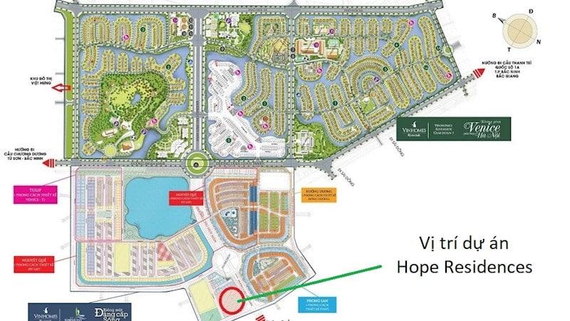 dự án Chung cư Hope Residences trong quần thể vinhomes