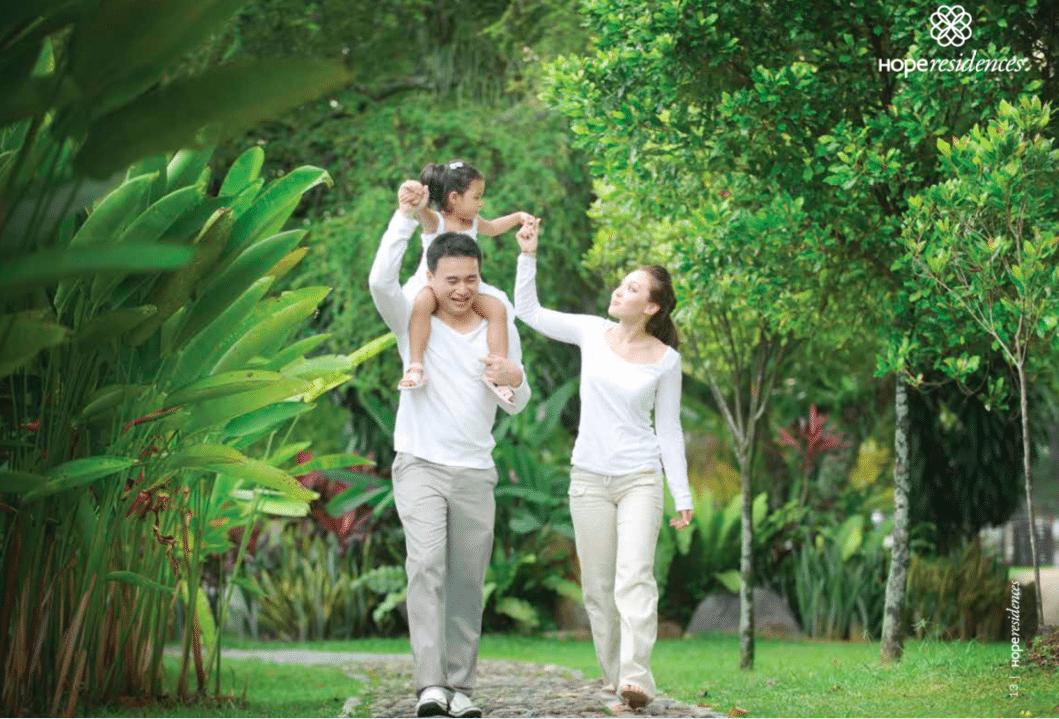 không gian xanh mát dự án Chung cư Hope Residences