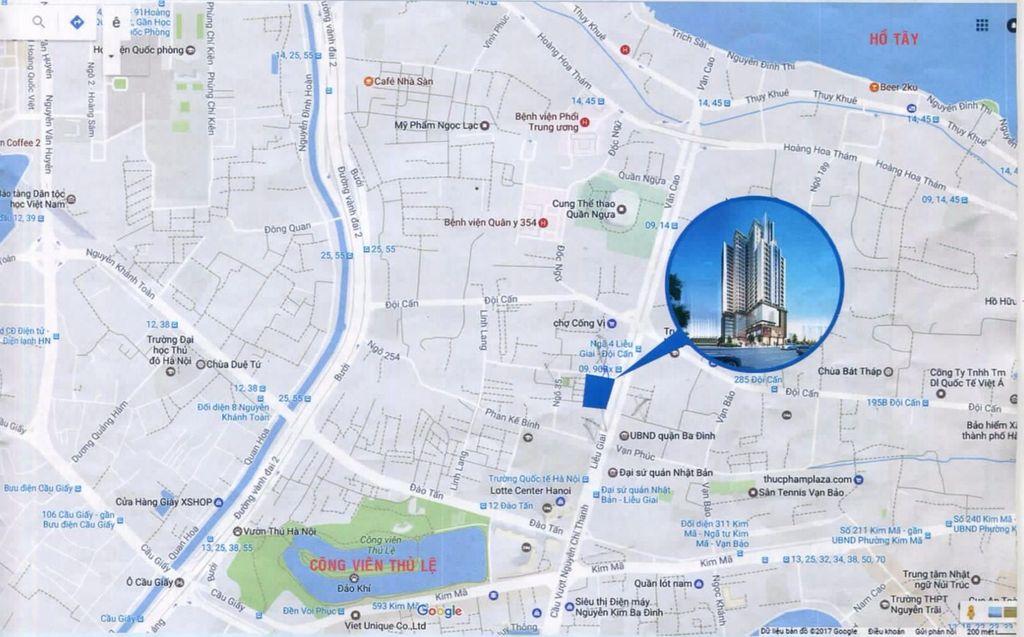 vị trí dự án Chung cư Liễu Giai Tower