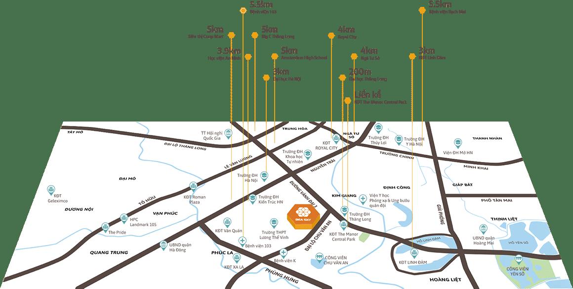 Sở hữu vị trí Kim Cương mặt đường Xa La Nguyễn Xiển