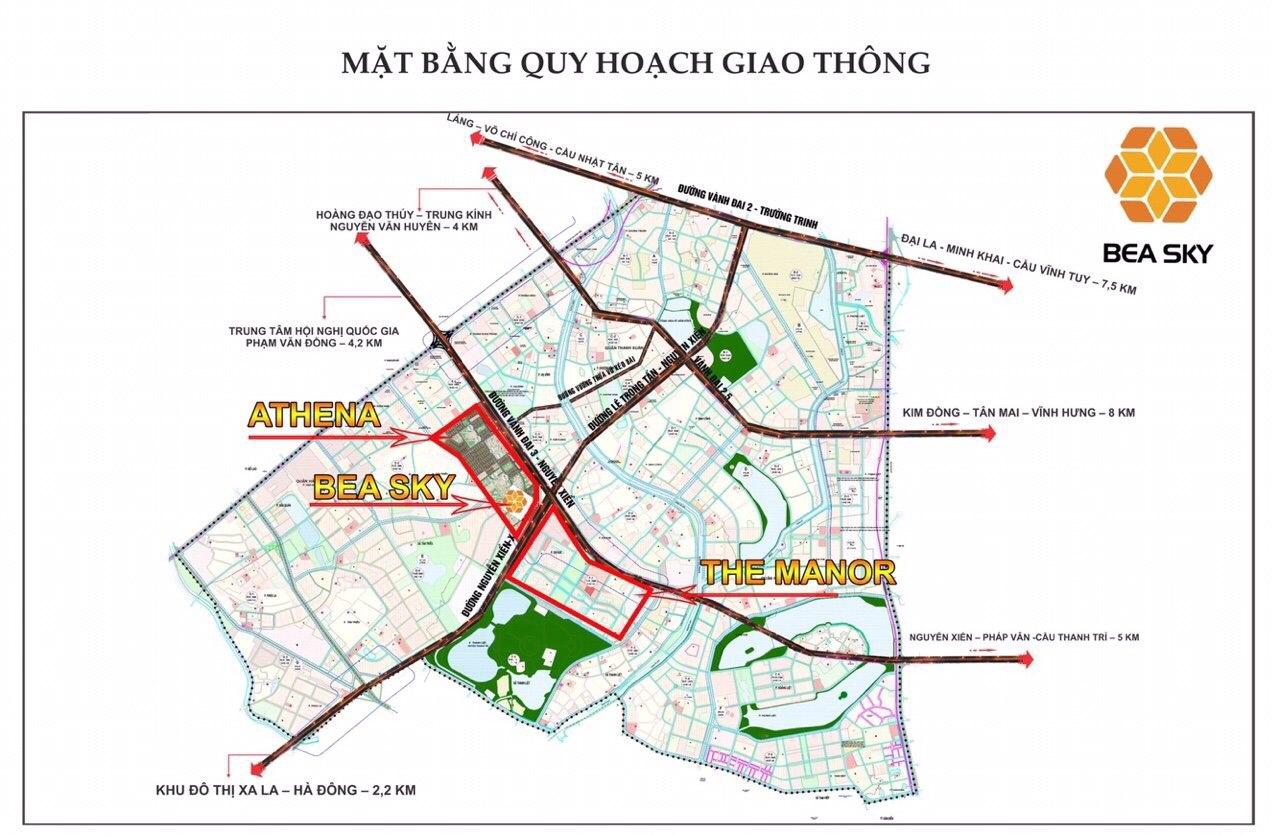 Vị trí đắc địa tổng thể KĐT Tây Nam Kim Giang