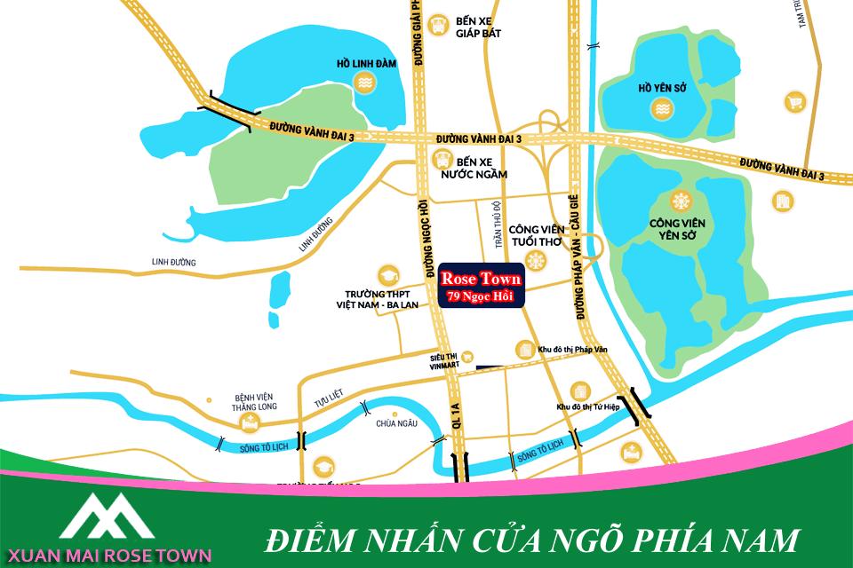 Vị trí án ngữ cửa ngõ phía Nam thủ đô