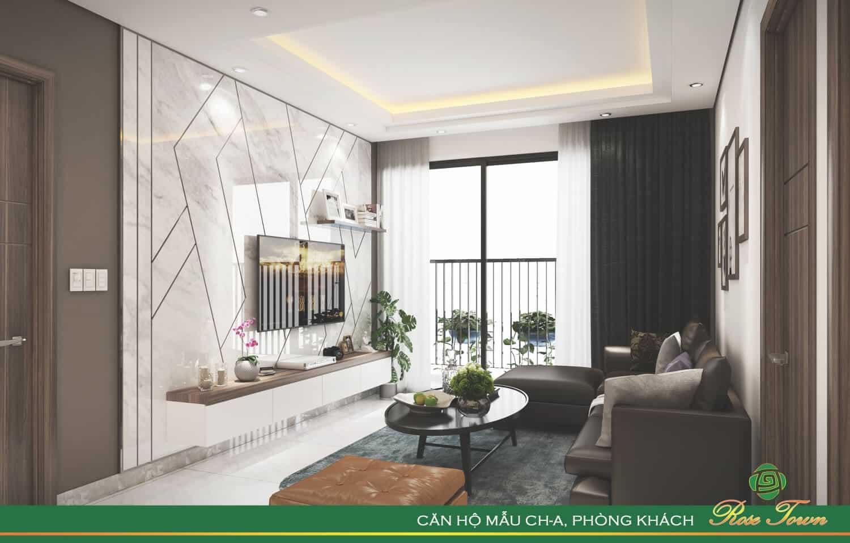 Phòng khách sang trọng, ánh sáng và gió tự nhiên