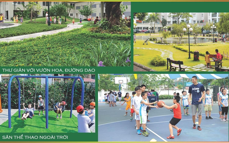 Không gian xanh tại Rose Town Xuân Mai