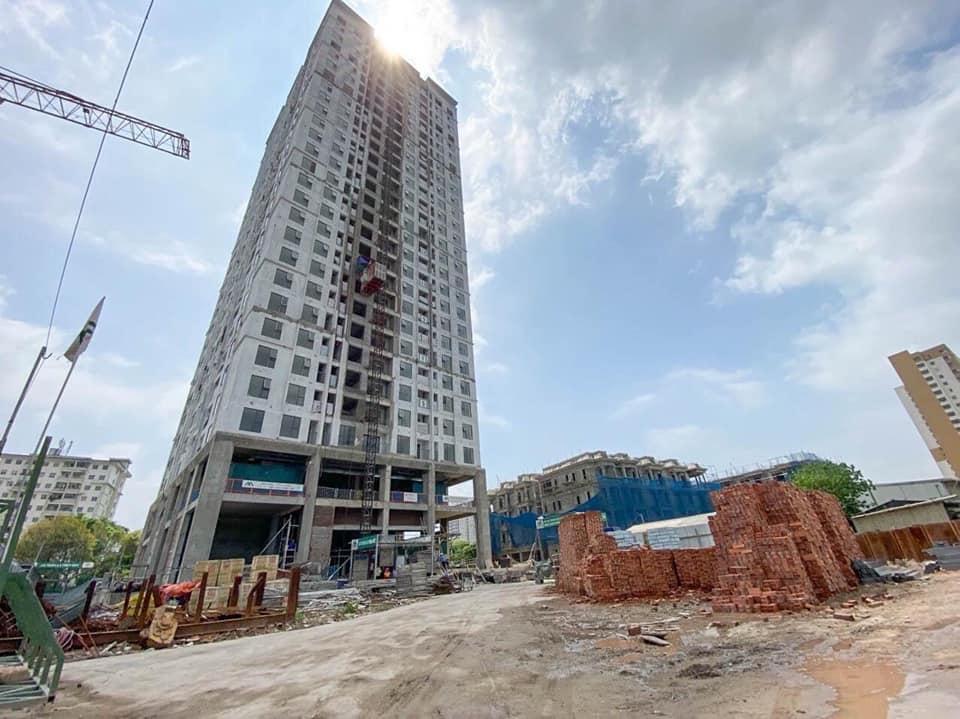 Ảnh thực tế DV02 Rose Town Ngọc Hồi đang hoàn thiện tháng 8 năm 2020