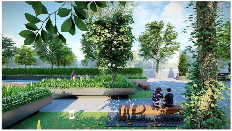 Tại Chung cư Rose Town Ngọc Hồi, cư dân được tận hưởng cả khu vực KĐT Pháp Vân như đại công viên