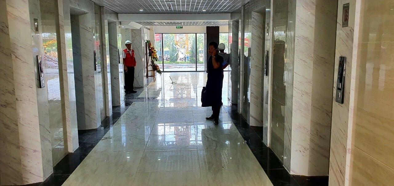 ảnh thực tế sảnh thang máy Dự án Chung cư Thăng Long Capital Premium