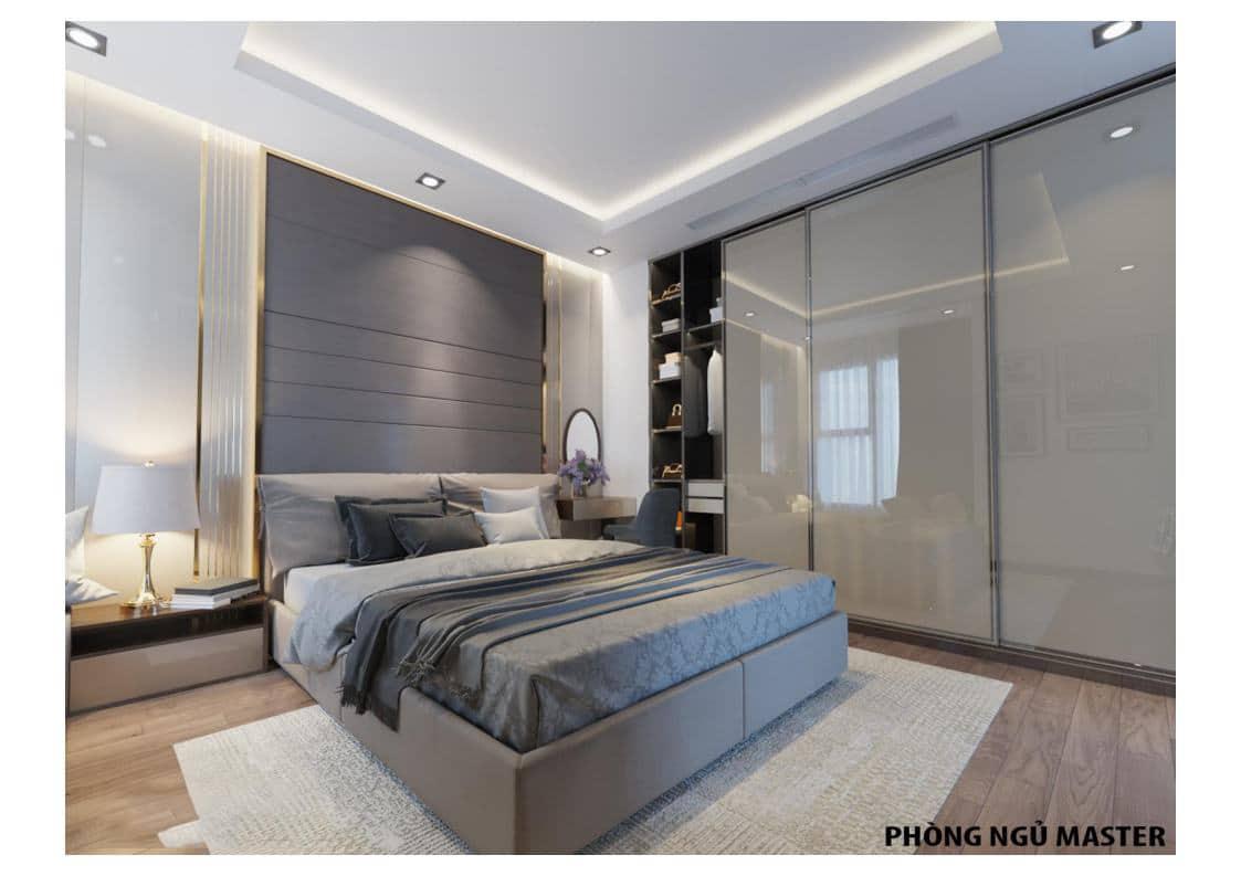 Phòng ngủ Master room Căn A Dự án The Legacy 106 Ngụy Như Kon Tum