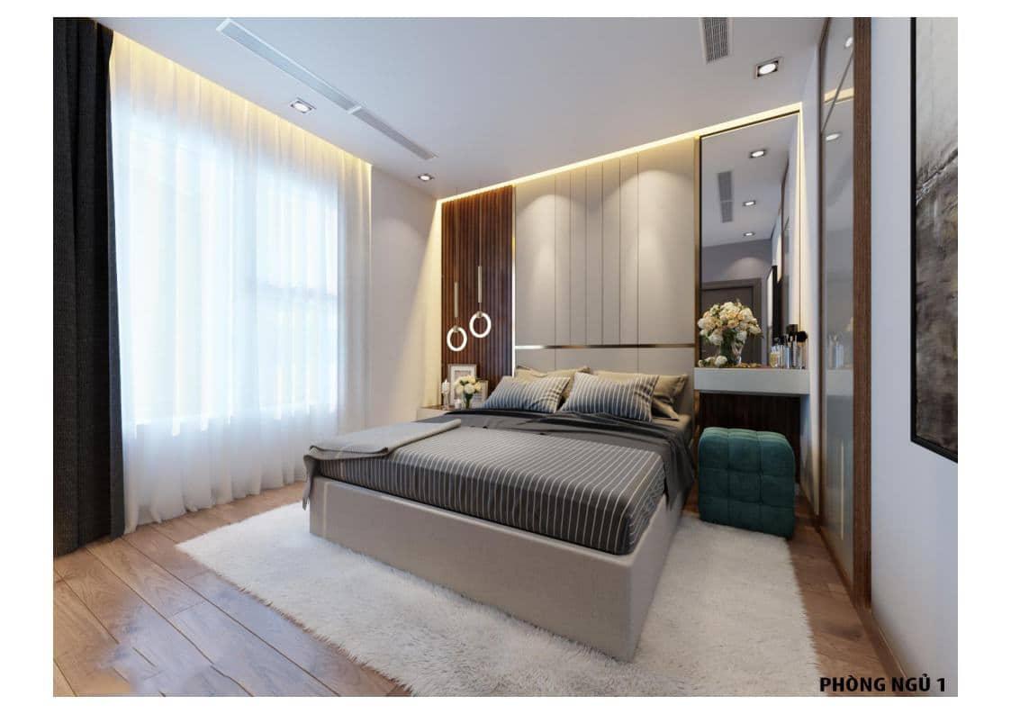Phòng ngủ Căn A Dự án The Legacy 106 Ngụy Như Kon Tum
