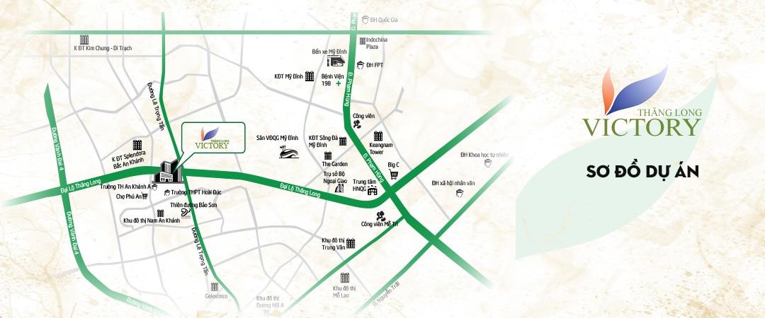 Dự án sở hữu vị trí đắc địa trên Đại lộ Thăng Long
