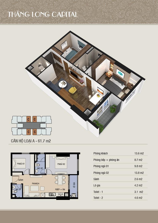thiết kế 3d căn C