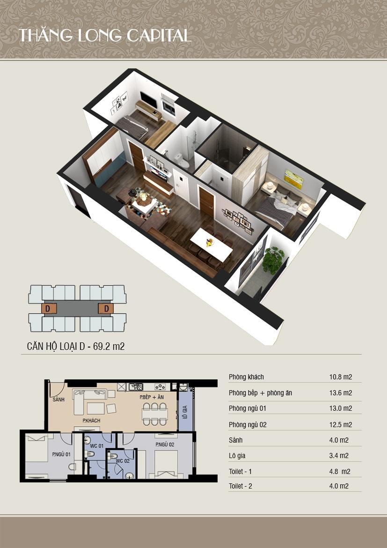 thiết kế 3d căn D