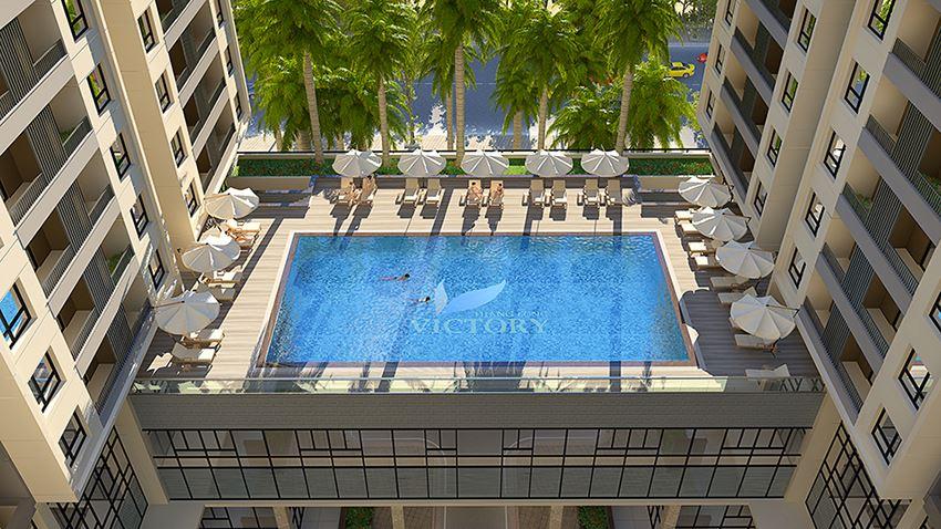 bể bơi ngoài trời là tiện ích cao cấp nhất