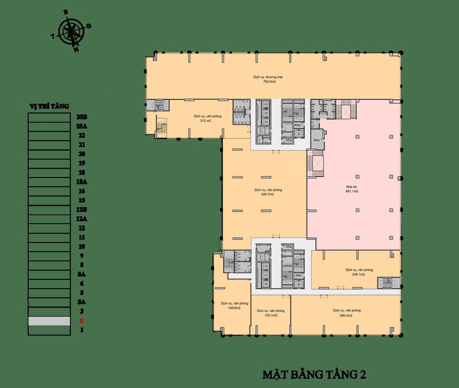 Chung cư Florence Mỹ Đình tầng 2