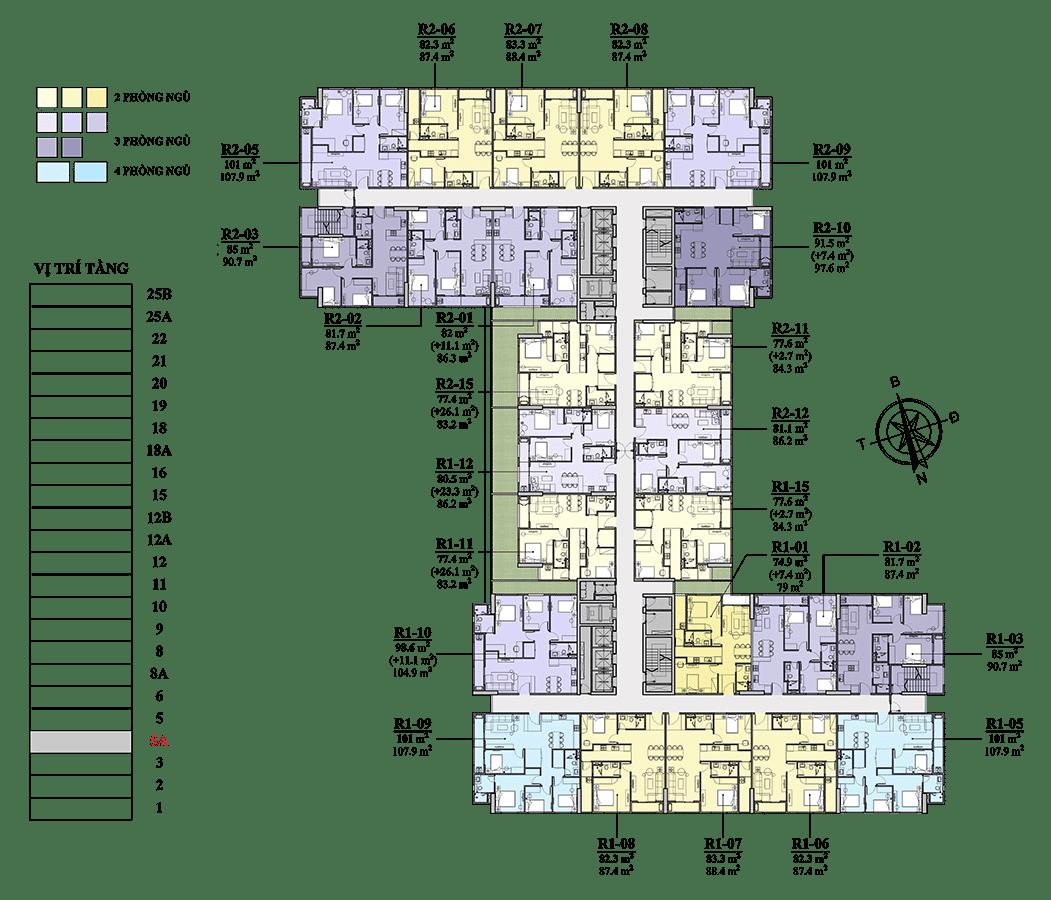 Chung cư Florence Mỹ Đình tầng 5A