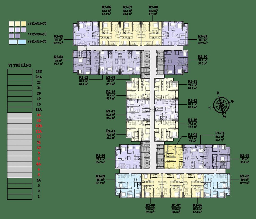 Chung cư Florence Mỹ Đình tầng 5 - 16