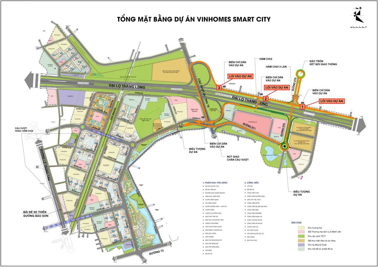 Dự án Vinhomes Smart City Tây Mỗ Đại Mỗ tổng mặt bằng